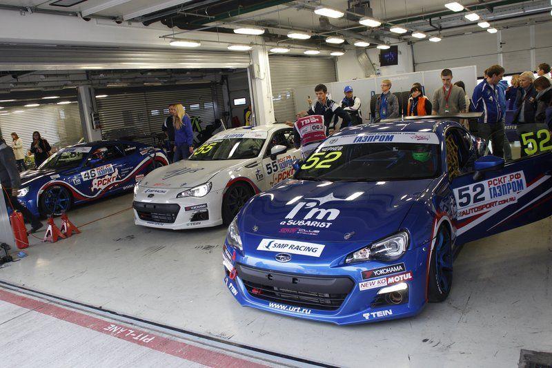 Команда Subaru в финале Российской Серии Кольцевых Гонок.